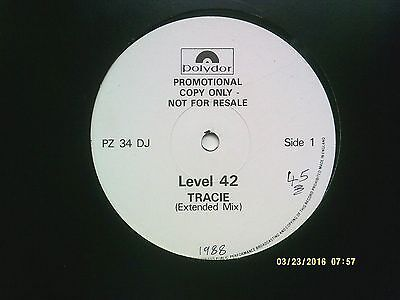 "Level 42 Tracie 12"" Promo Single 1988 N/mint"