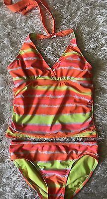 Cute Youth Girls JUSTICE 2pc Tankini Swimsuit Sz 14