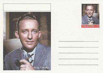 CINDERELLA - 4456 - BING CROSBY on Fantasy Postal Stationery card