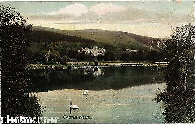 Castle Newe, Strathdon, old coloured postcard, unposted