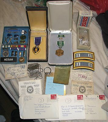 1966-70 Vietnam Purple Heart 2nd BN (Mech) 22nd Infantry Letters Tags Grouping