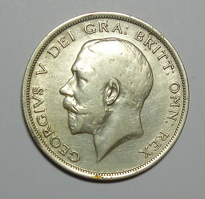Great Britain :  Halfcrown  1917.  0.925  Silver