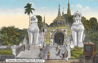 Early 1900s Burma Shwe Dagon Pagoda Rangoon Unused Postcard by Ahuja 496