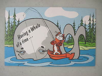 "1966 Kellogg's Cereal Mascot Tony The Tiger ""having A Whale Of A Time"" Postcard"