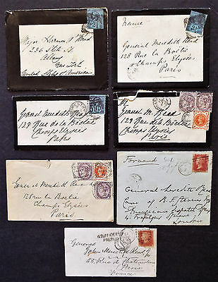 Great Britain Postal History 7 19Th C. Covers Penny Reds