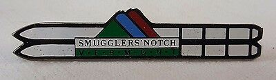 Smuggler's Notch Vermont Ski Theme Lapel Pin Wear Downhill Skiing Advertising