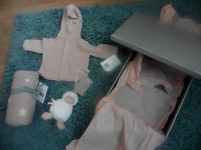 JOBLOT Baby girl gifts PINK BLANKET, SOFT TOY, SWEATER, Mamas & Papas, BNWT 0-3