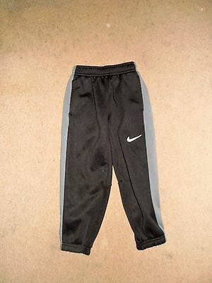Nike Therma-Fit Kids Pants Black Gray Size 5 Used Polyester