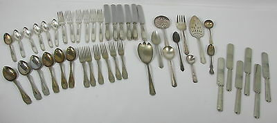 46pc MIXED LOT VINTAGE FLATWARE ASST. PATTERNS ROGERS *AMBASSADOR* CRAFTS ETC.