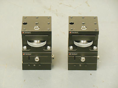 (Qty-2) OptoSigma XYZ Dovetail Manual Stage Positioners 40mm x 40mm x 65mm