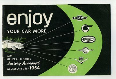 GENERAL MOTORS FACTORY APPROVED ACCESSORIES 1954 Canada Sales Brochure Parts GM