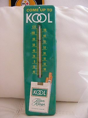 Vintage COME UP TO KOOL Kool Filter Kings Cigarettes Metal Wall THERMOMETER