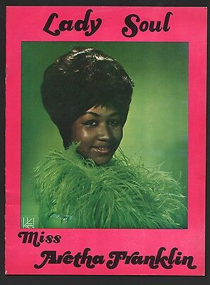 Original 1969 ARETHA FRANKLIN LADY SOUL Concert Tour Program Martin Luther King