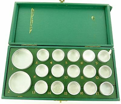 .`RARE c1950's ROLEX WATCH 17 COMPARTMENT PARTS STORAGE BOX + CONTAINERS