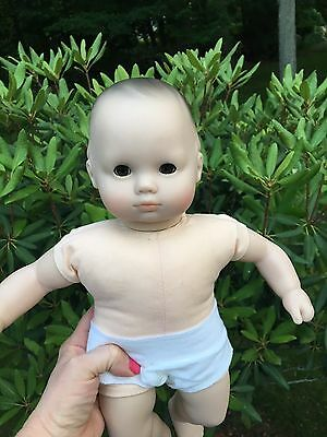 American Girl Bitty Baby Doll Pleasant Company Brunette Brown Eyes Red Carrier