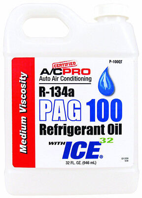 Interdynamics  P100QT, R134a PAG-100 Medium Viscosity Oil With ICE 32 - 32oz
