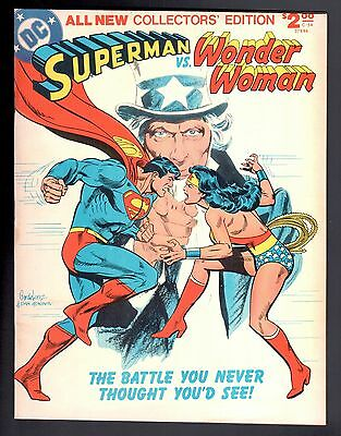 SUPERMAN VS. WONDER WOMAN All New Collectors' Edition C-54 DC Treasury 1978 VF
