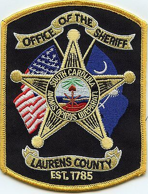 Laurens County South Carolina Sc Sheriff Police Patch