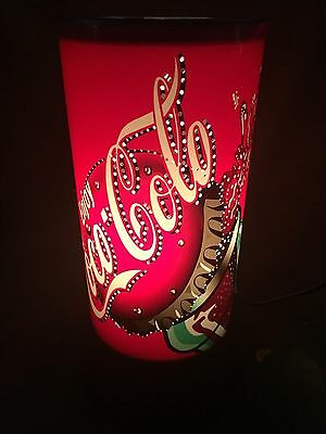 Coca Cola spinning can lamp motion light model 9521s-nb