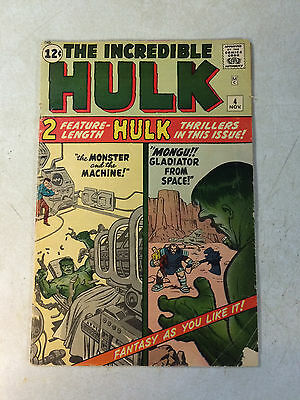 Incredible Hulk #4 Key Early Issue Monster And The Machine, Kirby, Stan Lee 1962