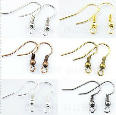 NEW  Wholesale 100Pcs 19mm MIX colors EARRING HOOK COIL EAR WIRE FIT HOT W3A