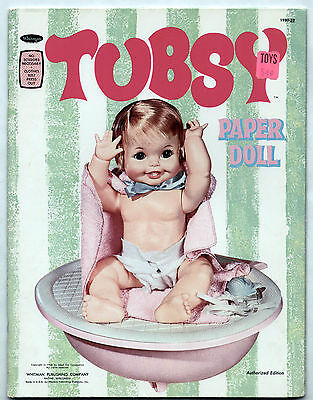 Vintage Whitman TUBSY paper dolls 196 uncut w/Bath Tub to Assemble