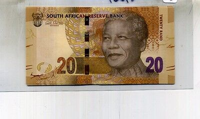 2012 South Africa 20 Rand Currency Note Lot Of 4 Consecutive Mandela