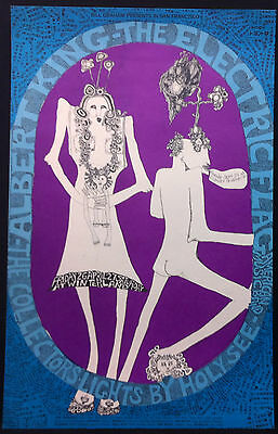 BG-117 ELECTRIC FLAG ALBERT KING 1968 Winterland Concert Poster BILL GRAHAM