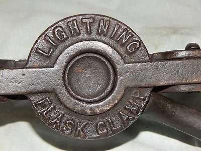 Antique! Lightning Flask Clamp # 2 Federal Foundry Supply Co Cleveland Ohio