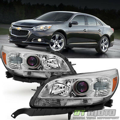 LEFT+RIGHT 2013 2014 2015 Chevy Malibu Replacement Halogen Projector Headlights