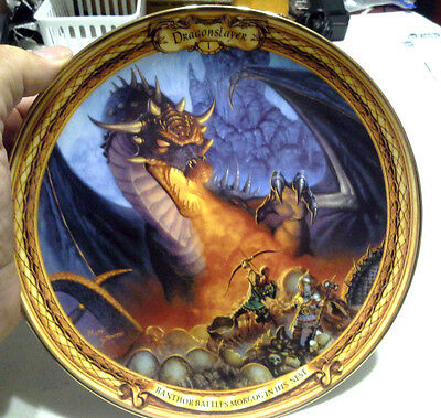 Franklin MInt Royal Doulton Dragon Slayer Ranth Battles Morgog Collector Plate