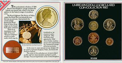 5 United Kingdom Uncirculated Coin Sets 1982, 1983, 1987, 1990, 1991