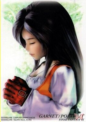 Final Fantasy 9 IX Art Museum Trading Card 7-11 Sp Ed 1 S-15 Garnet Portrait