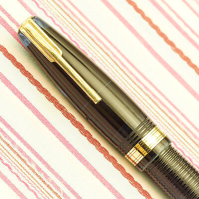 Vintage Waterman's Ideal Hundred 100 Year Transparent Blue Jewel Fountain Pen