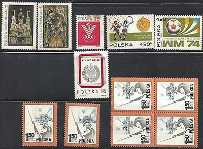 Lot of 1974 Polish stamps Mint condition bar 1 Poland (Not all issues)