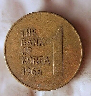 1966 SOUTH KOREA WON - Uncommon Vintage Coin - KOREA BIN #B