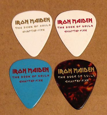 Iron Maiden - Guitar Pick Set Of 4 - 2017 Book Of Souls Tour - Chapter Five - V