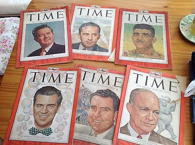 6 Vintage Time Magazines From 1952