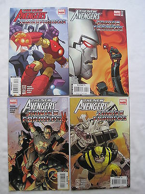 NEW AVENGERS / TRANSFORMERS : COMPLETE 4 ISSUE 2007 MARVEL series.MOORE, KIRKHAM