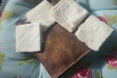 Ladies Vintage Handkerchiefs & Case