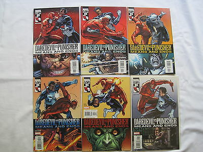 DAREDEVIL / PUNISHER : MEANS and ENDS : COMPLETE 6 ISSUE SERIES. MARVEL. 2005
