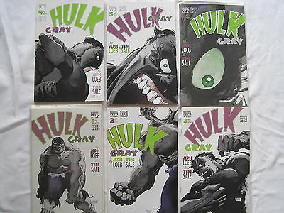 "HULK, ""GRAY"" : COMPLETE 6 ISSUE DELUX MARVEL 2003 SERIES by JEPH LOEB & TIM SALE"
