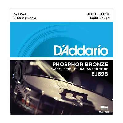 D'Addario EJ69B Banjo Light 5-String Saiten