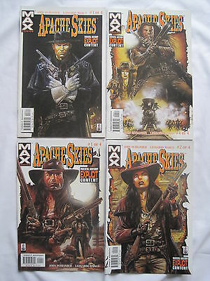 Apache Skies : Complete 4 Issue Series. Manco. Explicit Content. Marvel Max.2006