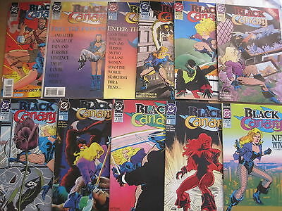 BLACK CANARY : COMPLETE 12 ISSUE SERIES (except 10) by BYAM,VON EEDEN et.DC.1991