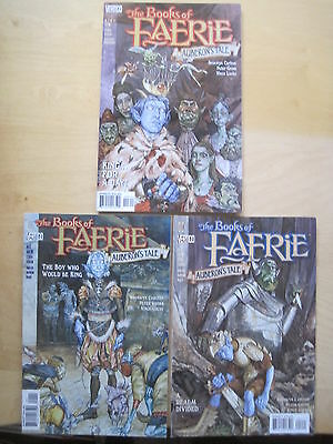 BOOKS of FAERIE, AUBERON'S TALE : COMPLETE 3 ISSUE SERIES by CARLTON,GROSS. 1998