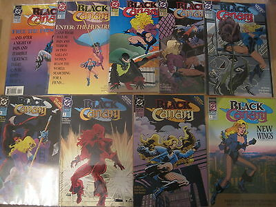 BLACK CANARY : #s 1,2,4,5,6,7,9,11 (8 ISSUES) by BYAM & VON EEDEN.DC.1993 SERIES