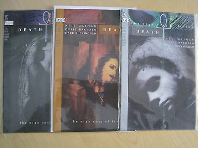 DEATH, the HIGH COST of LIVING, COMPLETE 3 ISSUE SERIES by GAIMAN, BACHALO. 1993