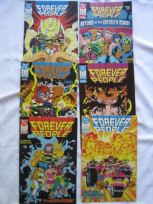 FOREVER PEOPLE : COMPLETE 6 ISSUE MINI SERIES FROM 1988 by DeMATTEIS,CULLINS. DC