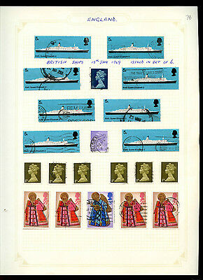 GB Album Page Of Stamps #V5180